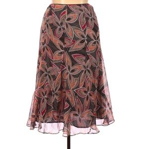 JM Collection Size 12 Floral Midi Casual Skirt
